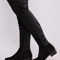 Marja Over The Knee Boot - Black