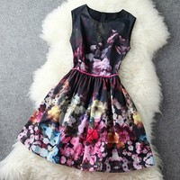 High-End Retro Sleeveless Vest Skirt