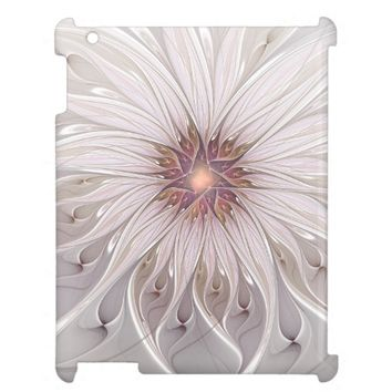 Floral Fantasy, Abstract Modern Pastel Flower iPad Cases