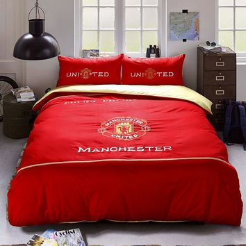 Manchester United F.C Bedding Set Twin Queen Size | EBeddingSets