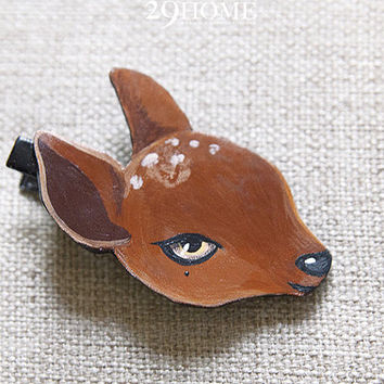little deer hand-painted hairpin jewelry for her him beautiful surprise gift 13