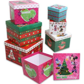Minnie and Mickey 6-Piece Nesting Cube Box Set
