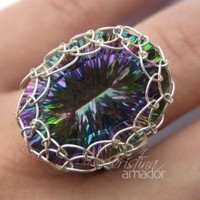 Netted Bezel Ring - Jewelry | Ring Jewelry | ring tutorial | UsTrendy