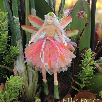 Fairy Doll - Dahlia the Floral Fairy doll - Flower Fairy Garden Ballerina Dress