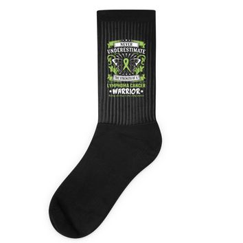 Never Underestimate The Strength Of A Lymphoma Cancer Warrior Socks