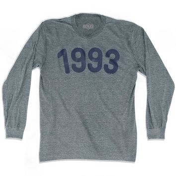 1993 Year Celebration Adult Tri-Blend Long Sleeve T-shirt