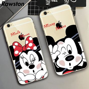 Cell Phone Cover for iPhone 6 Mickey Mouse Case Minnie Ear Daisy Kissing Couple mobile Case for iPhone SE 5s 6s 7 8 Plus capinha