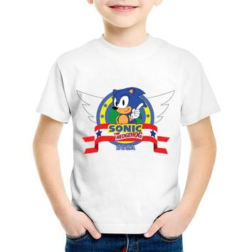 New Arrival Print Cartoon Sonic The Hedgehog Children T-shirts Kids Cute Summer Tees Boys/Girls Funny Tops Baby Clothing,HKP5138