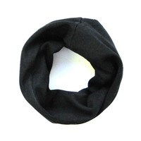 Kids Black Scarf Toddler Scarf Unisex Scarf Child Winter Scarf Girl Scarf Boy Scarf Baby Bib Scarf Winter Baby Scarf Ready to Ship