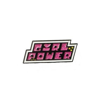 HOME :: Pins & Patches :: LAPEL PINS :: GLITTER Girl Power Enamel Pin