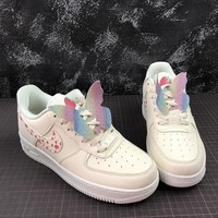 Nike Air Force 1 Low AF1 GS Pale Ivory / Summit White Fashion Shoes - Best Online Sale