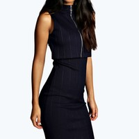 Grovanna Double Layer Zip Dress