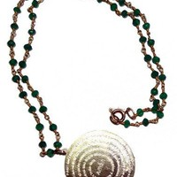 Beaded goldfilled Padre Nuestro necklace