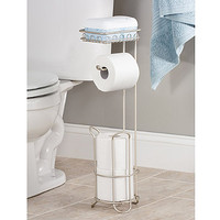 InterDesign® Classico Roll Toilet Paper Stand Plus with Shelf