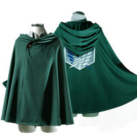 Attack on Titan Shingeki no Kyojin Scouting Legion Cloak Cape Cosplay