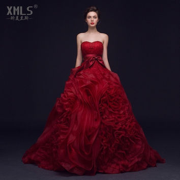 Wedding Dresses 2017 New Red Dress Fashion Bride Bridal Gown 1929559620