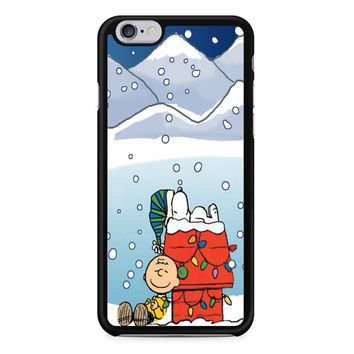 Charlie And Snoopy Brown Christmas iPhone 6/6s Case