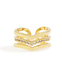 Multilayer Open Crystal Ring