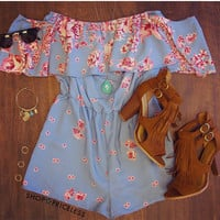 Cherry Springs Romper - Blue