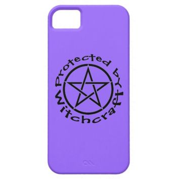 Protected by Witchcraft Purple Wiccan iphone case