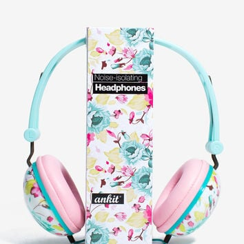 Floral Love Headphones