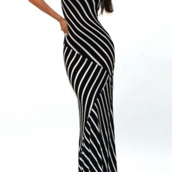 So Anxious, Triple Striped Maxi Dress