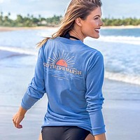 Long Sleeve FieldTec™ Comfort Tee - Sunset by Southern Marsh