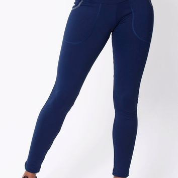 Navy Pocket Legging