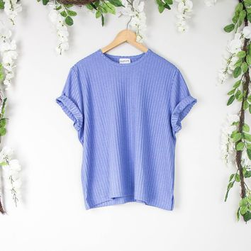 Vintage Blue Loose Knit Top