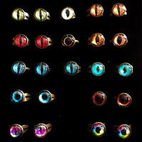 Glass Taxidermy Eye Rings
