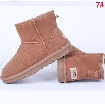 """UGG"" Winter Fashionable Women Ankle Warm Wool Snow Boots 7# I/A"