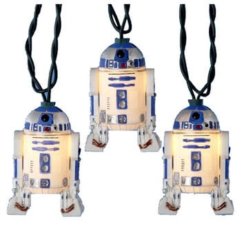 R2D2 Star Wars Plastic Ornament Light Set, 10 LED