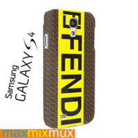 Fendi Logo Samsung Galaxy Series Full Wrap Cases