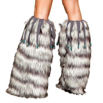 Roma Costume USA LW4427 Leg Warmers with Beaded Fringe
