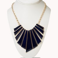 Retro Fan Bib Necklace