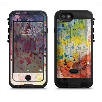 The WaterColor Grunge Setting Apple iPhone 6/6s LifeProof Fre POWER Case Skin Set