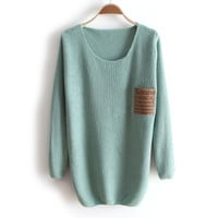 Thick collar loose long-sleeved sweater