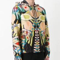 Givenchy Fashion Casual Pattern Print Hooded Cardigan Jacket Coat