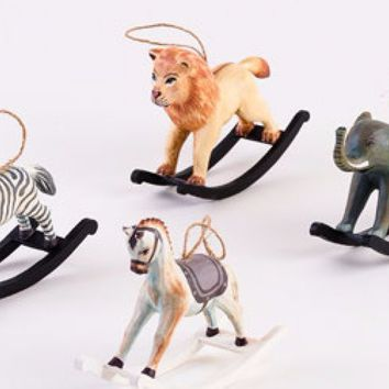 Rocking Animals Ornaments