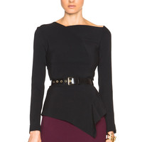 Roland Mouret Achra Top in Black | FWRD