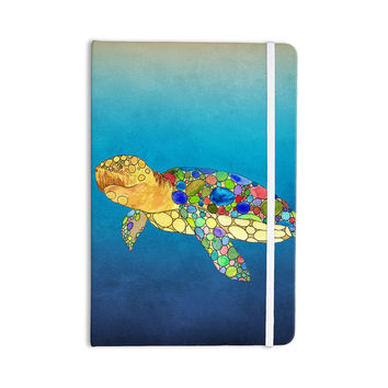"Catherine Holcombe ""Bubbles"" Blue Turtle Everything Notebook"
