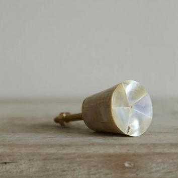 Mother Of Pearl Conical Door Knob