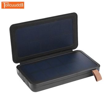 Tollcuudda Power Bank 16000mAh Solar Power Bank External Battery pack waterproof powerbank portable LED Mobile phone charger