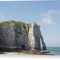 Cliffs Aval Of Etretat, Normandie Acrylic Print