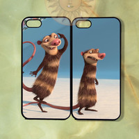 Eddie and Crush Couple Case UP-iPhone 5, iphone 4s, iphone 4 case, ipod 5, Samsung GS3-Silicone Rubber or Hard Plastic Case, Phone cover