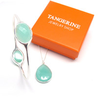 Gemstone Necklace and Bangle Gift Set