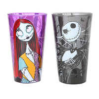 The Nightmare Before Christmas Jack & Sally Pint Glasses Set