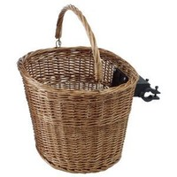 Avenir Wicker Basket with Handlebar Mount, 15 Inch x 12 Inch x 10 Inch