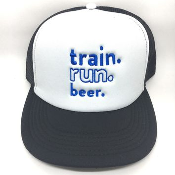 Train. Run. Beer. Trucker Hat