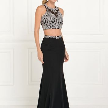 Long 2 piece prom dress  gl2419